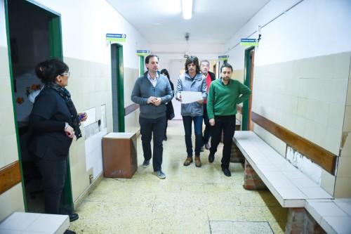 Sujarchuk, junto a D´aquino, Pérez y Girola, anunció las obras demandarán 45 días aproximadamente.