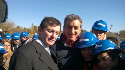Junto a Florencio Randazzo, en  una visita a Ingenierio Maschwitz.